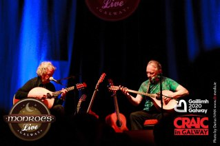 Thursday in Monroe's Live with Andy Irvine and Dónal Lunny two of Ireland's most seminal musicians came together to Monroe's Live to create unforgettable evening of music and songs #GIAF2015 @MonroesLive, #CraicInGalway, #IBackGalway