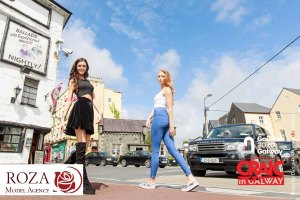 Festival Fiesta! Pictured are models from Roza's Beauty Agency at recent modelling boot camp held at Monroe's Live last weekend! Together they showcase Galway as the home of festivals this July! Photo by Darius Ivan www.divmediaie