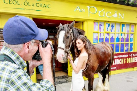 The CRAIC in Galway, August 2015, Edition 48 with An Púcán, Fragments from the CRAIC photoshoot  for the front cover advertorial with Racheal Carroll to mark An Púcán as the First Stop after Galway Races 2015.