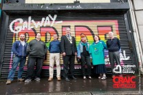 Committee of the Galway Pride Festival 2015 at the date with Mayor of Galway Cllr. Frank Fahy! Pictured on Dominic Street in Galway a place within pride for the businesses! Photo Darius Ivan. #IBackGalway, #CraicInGalway @GalwayPride