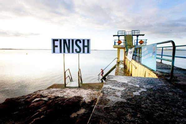 06:54:54 am Saturday 25th July 2015. The best possible weather conditions for a daily swim at Galway's Black Rock. At around 11:30 am 80 swimmers will arrive at the same location after a swim from Clare 13 kilometres across Galway Bay. Frances Thornton Memorial Swim starts at 8:30 and the first swimmer is expected within 3 hours. Photo by Darius Ivan www.divmedia.ie
