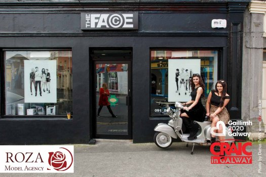 Galway's models Racheal Carroll and Miss Sunday World Laura Fox enjoying life in the streets of Galway World's Friendliest City. Racheal is getting ready for Miss Supranational 2015 in London and for Roza's Model Agency Fashion Show in Monroe's live to support breast cancer research. #CraicInGalway, #IBackGalway Photo by Darius Ivan www.divmedia.ie
