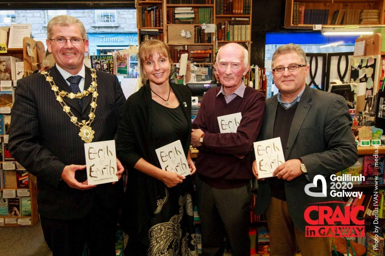 Catherine Carlton enjoyed poetry reading at the launch of Matt Mooney's newest book of poetry 'Earth to Earth' Friday afternoon with Mayor of Galway Frank Fahy