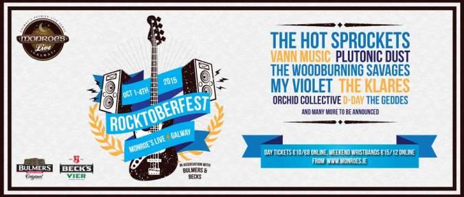 Rocktoberfest 2015 at Monroe's Live, Galway. www.monroes.ie