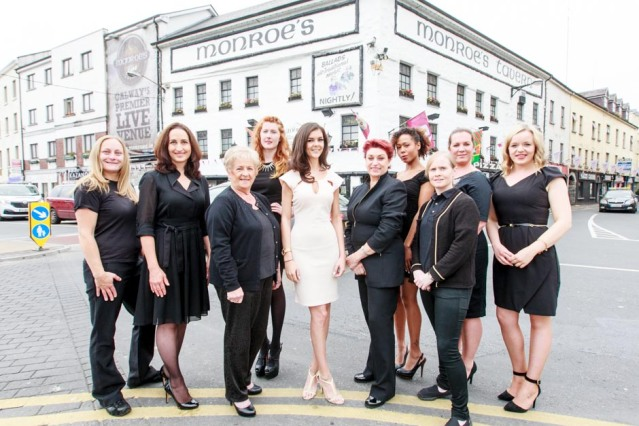 Models from Roza Model Agency join team members from Breast Cancer Research to promote their fashion show at Monroes Live on September 17th. 1 in 10 Irish women will be affected by breast cancer. Tickets at www.monroes.ie Photo by Darius Ivan www.divmedia.ie