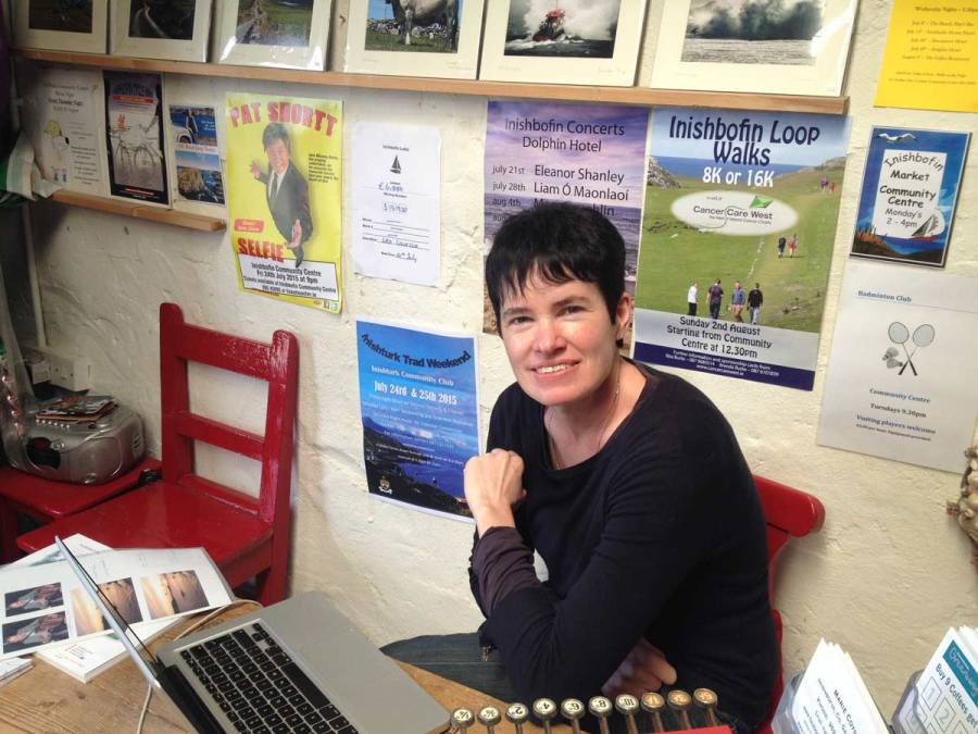 The Inishbofin Heritage Museum, set up by islander Marie Coyne in 'the store' at the old pier in 1998.