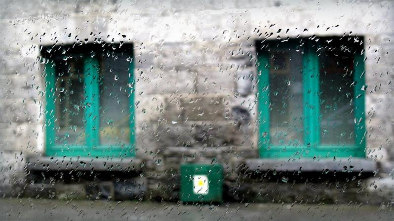 Images from Galway city in the rain, windows