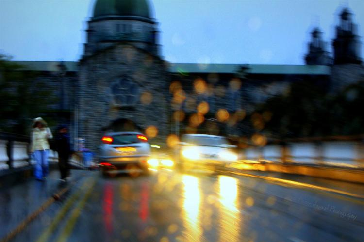 Galway cathedral in the rain