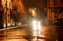 Good Morning Galway. Saturday 12 day to Christmas 2015. Dominick Street Galway, Photo by Darius Ivan