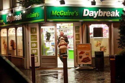 Good Morning Galway. At McGuire's Daybreak on Dominick Street in Galway. Saturday 12 days to Christmas 2015. Dominick Street Galway, Photo by Darius Ivan