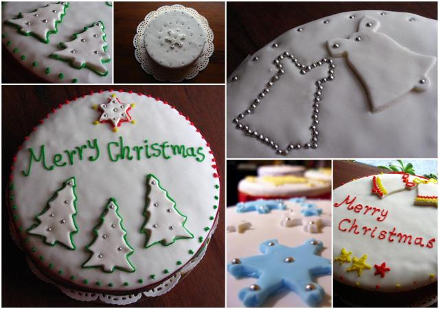 Christmas collage by with cakes