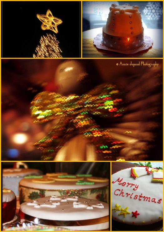 Christmas collage with mixed images
