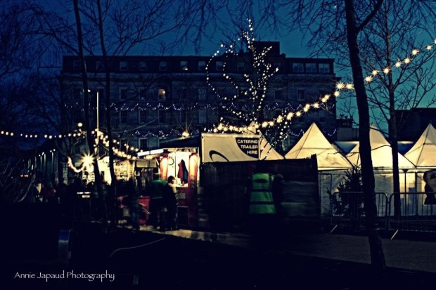 Galway in the winter twilight at Christmas