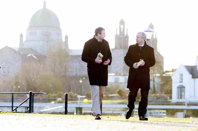 Brian Walsh TD and Sean Kyne TD pictured on Woodquay in Galway. Photo by Darius Ivan