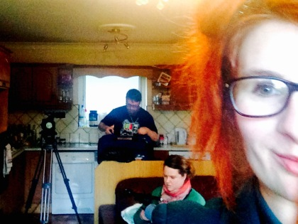 Students of the Fulltime Free 'FEETAC Level 5 Film Course at VTOS Galway set cameras to run yesterday. Number of unique short movies is set to be shot in next couple of weeks to be presented on silver screen by the end of course. Photo by Sunny Juddy