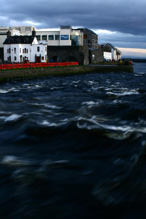 Looking over the river Corrib from Wolfe Tone bridge