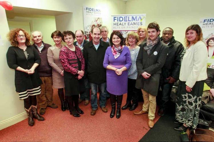 Fidelma Healy Eames with her team ready for election 2016