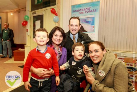 FIDELMA HEALY EAMES Acts on Principle. Independet candidate in Election 2016 pictured with supporters at the opening of her office in Oranmore | www.fidelmahealyeames.ie