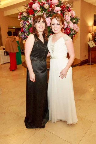 Cathrine Kilgariff and Avril Kyne pictured in the Salthill Hotel at Hand in Hand Ball last Saturday 6th February. Photo by Darius Ivan