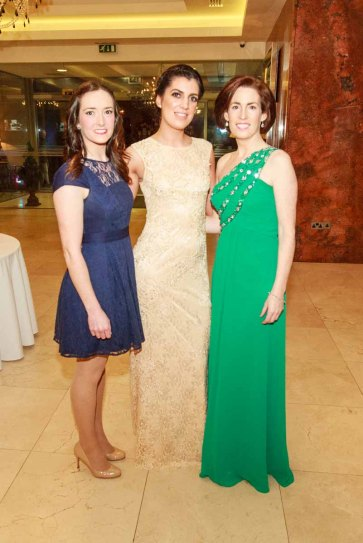Cara Mc Govern Nicola Kerrigan Hildegarde, pictured in the Salthill Hotel at Hand in Hand Ball last Saturday 6th February. Photo by Darius Ivan