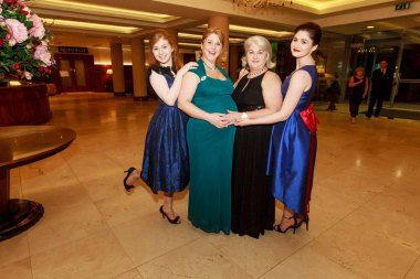 Grace Andbro Sinead Muldoon Maira Gillespie and Saoirse Muldoon pictured in the Salthill Hotel at Hand in Hand Ball last Saturday 6th February. Photo by Darius Ivan