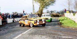 David Goose/Richard WardleFord Escort RS1800D5O/A2:03:24.62:54.8 Corrib Oil Galway International Rallly 2016. Saturday 6th February Stage at Corcally Beg. Photo by Darius Ivan, sponsored by Mileage Tyres Galway, www.mileagetyresgalway.ie