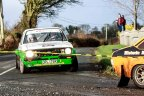 David Goose/Richard Wardle at Ford Escort RS1800 on the race for silver in the Historic Category at Corrib Oil Galway International Rallly 2016 with time 2:03:24.6, 2:54.8 after the winner Saturday 6th February Stage at Corcally Beg. Photo by Darius Ivan, sponsored by Mileage Tyres Galway, www.mileagetyresgalway.ie