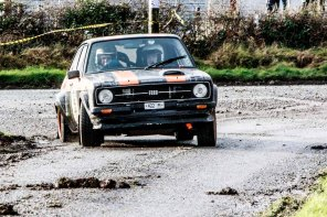 CatTom Flaherty/Patrick Curley on Ford Escort RS with time1:52:01.3, just 1:09.5 after winner at Corrib Oil Galway International Rallly 2016. Saturday 6th February Stage at Corcally Beg. Photo by Darius Ivan, sponsored by Mileage Tyres Galway, www.mileagetyresgalway.ie