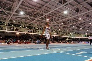 D'Angelo CHERRY from USA 6.58 gold, Diondre BATSON 6.62 silver and Ramon GITTENS from Brazil 6.65 bronze from 60m on AIT GRAND PRIX 2016 Athlon IT. Photo by Darius Ivan www.irishtv.ie