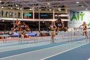 Kristi CASTLIN USA with time 7.92 winning 60mH at AIT GP16 just 0.01sec  before second american Sharika NELVIS 7.93 and third UKRHana PLATITSYNA 7.99 at AIT GRAND PRIX 2016 Athlon IT. Photo by Darius Ivan www.irishtv.ie