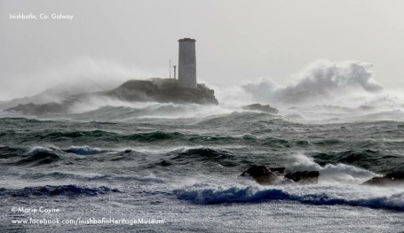 Storm Henry Hitting Inishmore island 1st February 2016. Photo by Marie Coyne