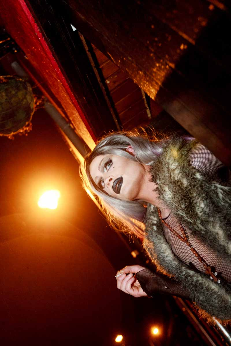 """""""Life Is Too Short - So Kiss Slowly, Laugh Insanely, Love Truly, and Live With Passion."""" KIKI St. Claire Pictured at GASS night of madness over valentine's weekend 2016. """"I'm still nervous,"""" admitted Galway's Drag Queen Kiki. Photo by Darius Ivan."""