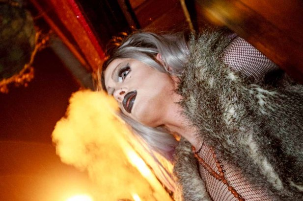 """Life Is Too Short - So Kiss Slowly, Laugh Insanely, Love Truly, and Live With Passion."" KIKI St. Claire Pictured at GASS night of madness over valentine's weekend 2016. ""I'm still nervous,"" admitted Galway's Drag Queen Kiki. Photo by Darius Ivan."