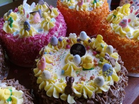 easter cakes at Enjoy from the White Gables