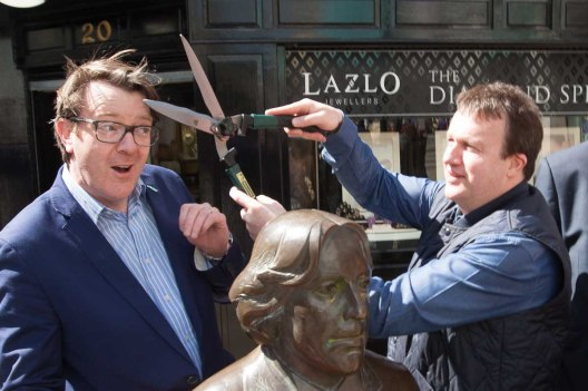 Support Galway Tidy Towns. Monroe's getting wilde about haircut budget! Photo by Darius Ivan