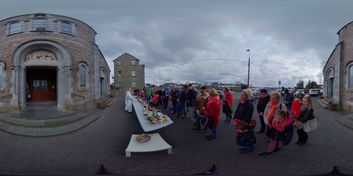White Saturday Food Blessing in the Claddagh Church | Galway 360