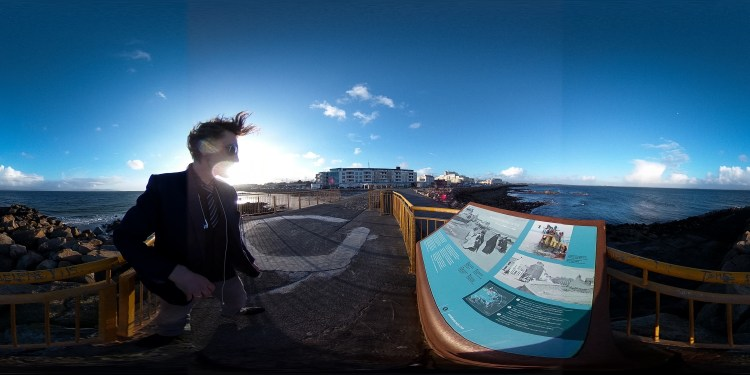 Sunset On The Prom | Div Media Virtual Spheres for Traveling in Time