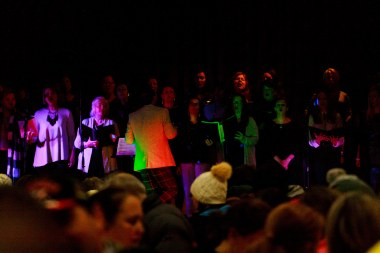 €200k Raised in Leisureland of Salthill in Galway during the 2018 'Darkness Into Light' 5k fundraising Run/Walk for Pieta House, Preventing Suicide and Self Harm. Choir on the stage by The Tribetones directed by Sean Rowland Pianist | Photo by Darius Ivan www.divmedia.ie