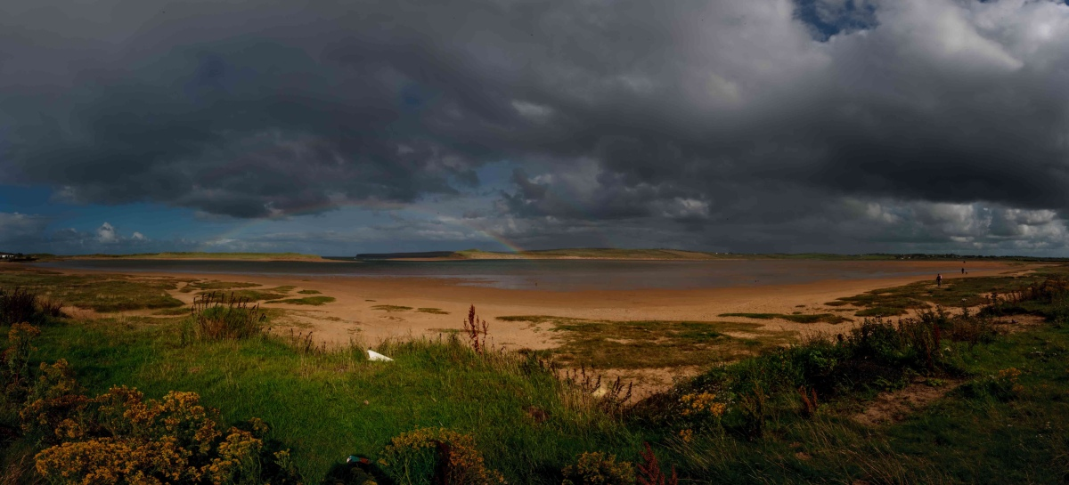 Shallow Tide and the Double Rainbow marking 220 Years since the French Landing in Kilcummin near Lacken Strand