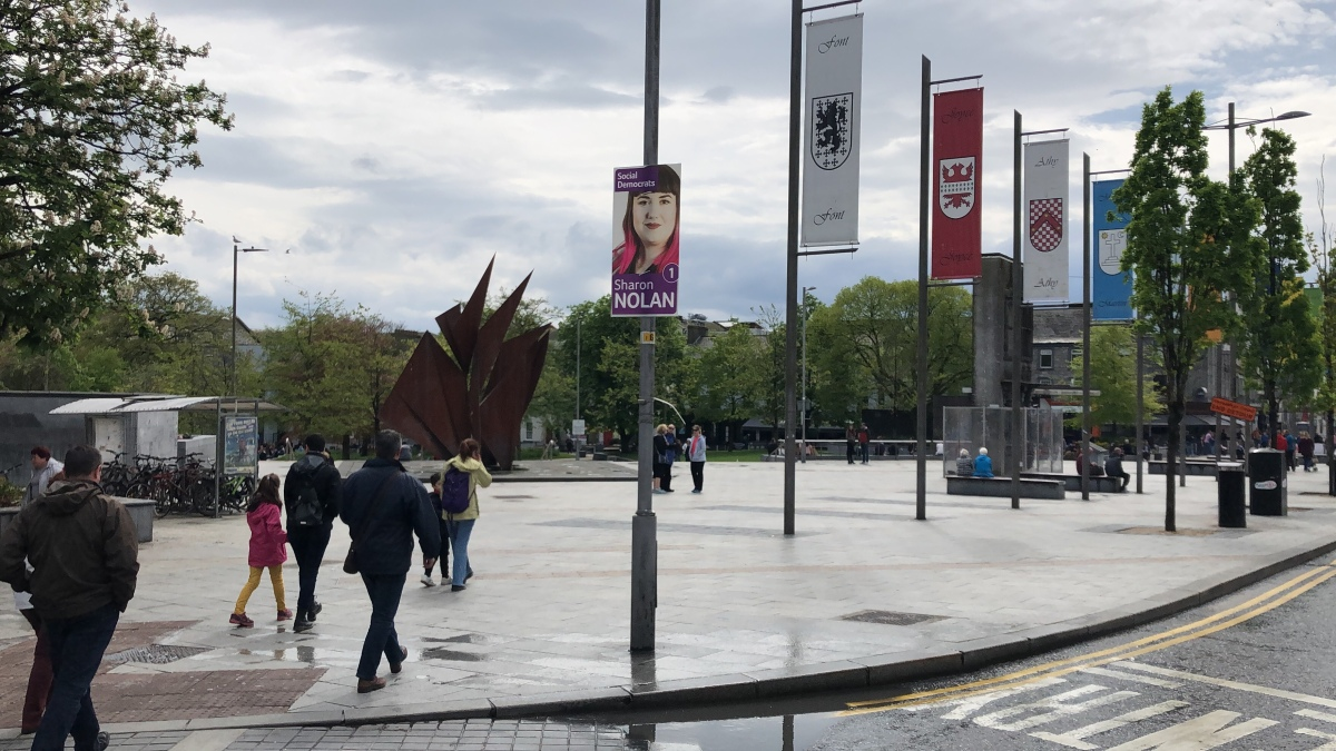 On-Street Poster Campaign Started in Galway Despite a Call for the Poster-free Elections 2019